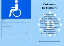 Bild von einem Parkausweis für Menschen mit Behinderung