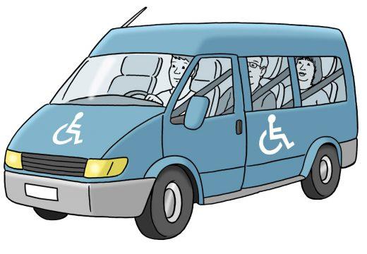 Bild von einem Bulli für Rolli-Fahrer