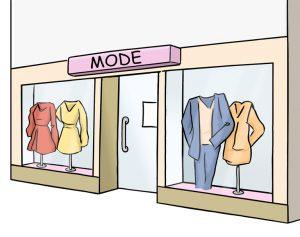 Modegeschäft von außen