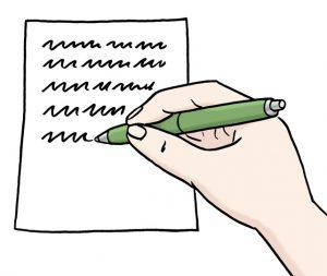 Bild von einem Brief