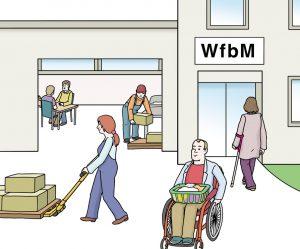 Bild von einer Werkstatt für Menschen mit Behinderung